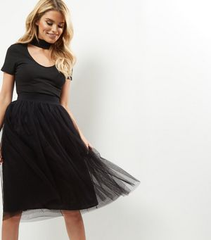 Black Tulle Pleated Midi Skirt £19.99 Click to visit New Look