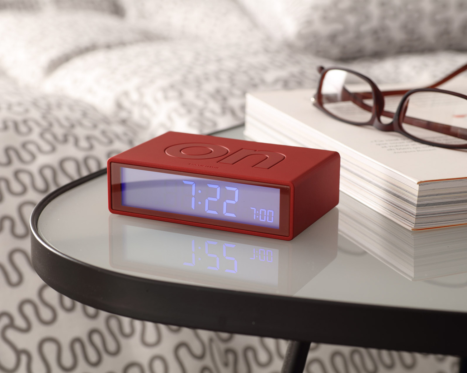 metallic-red-lexon-flip-alarm-clock-111