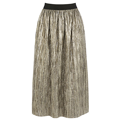Oasis Metallic Skirt, Gold £45 Click to visit John Lewis