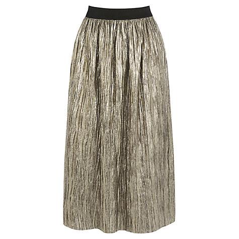 Oasis Metallic Skirt, Gold £45 Click to visit John Lewis