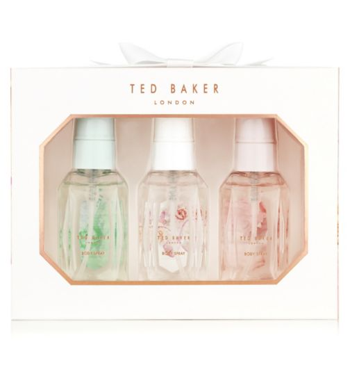 Ted Baker White Mini Body Spray Trio £8.00 Click to visit Boots