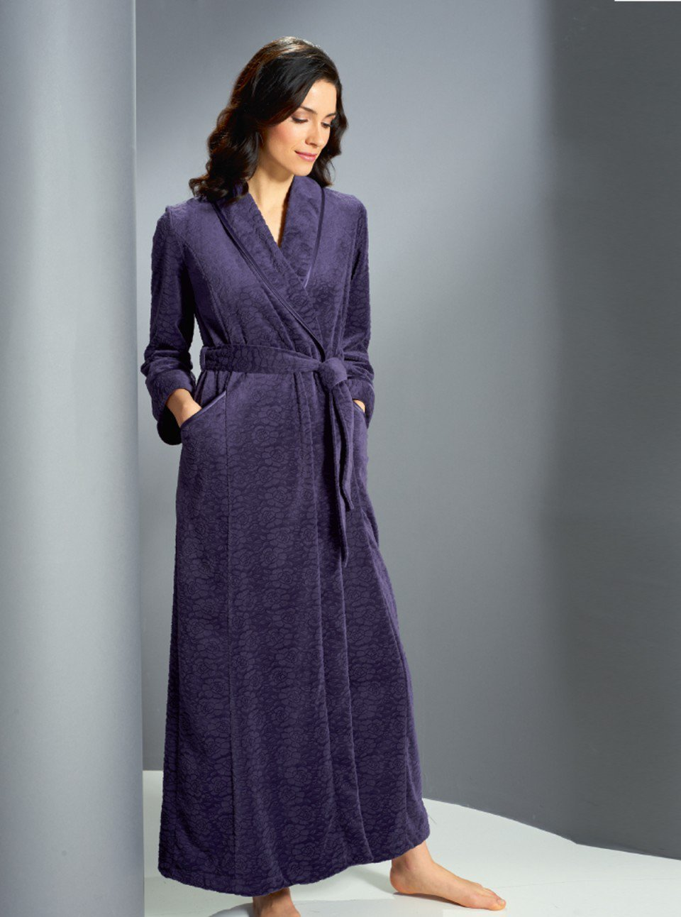 Soft Embossed Fleece Wrap £149 Click to visit David Nieper
