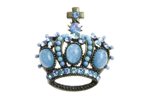 Blue Crown Brooch £9.95 Click to visit Tegen Accessories