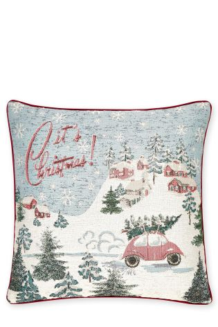 Tapestry Christmas Scene Cushion £12 Click to visit Next