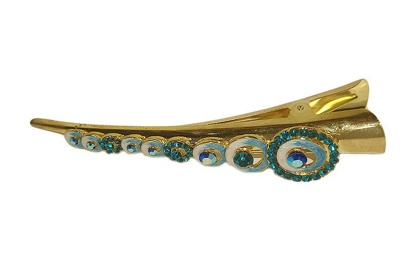 Turquoise Circles Beak Clip £9.95 Click to visit Tegan Accessories