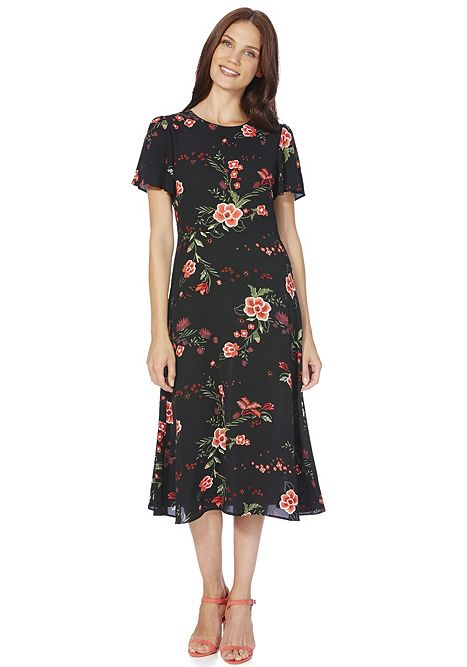 F&F Floral Print Midi Dress £22 Click to visit F&F Clothing