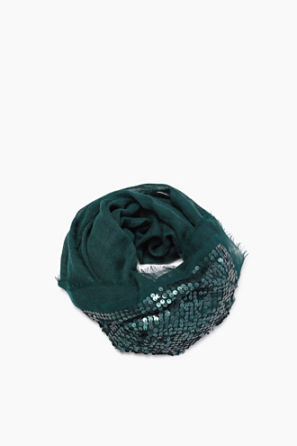 Wool/silk woven scarf with shiny sequins £ 29.00 Click to visit Esprit