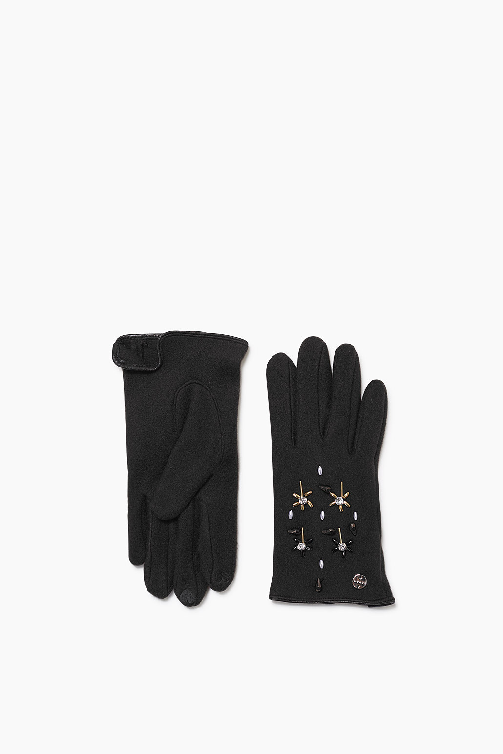 Touchscreen fleece gloves with a sheen £ 25.00 Click to visit Esprit