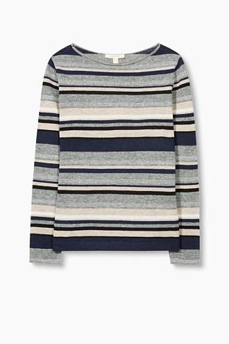 Striped jumper + lurex effects, wool blend £ 39.00 Click to visit Esprit