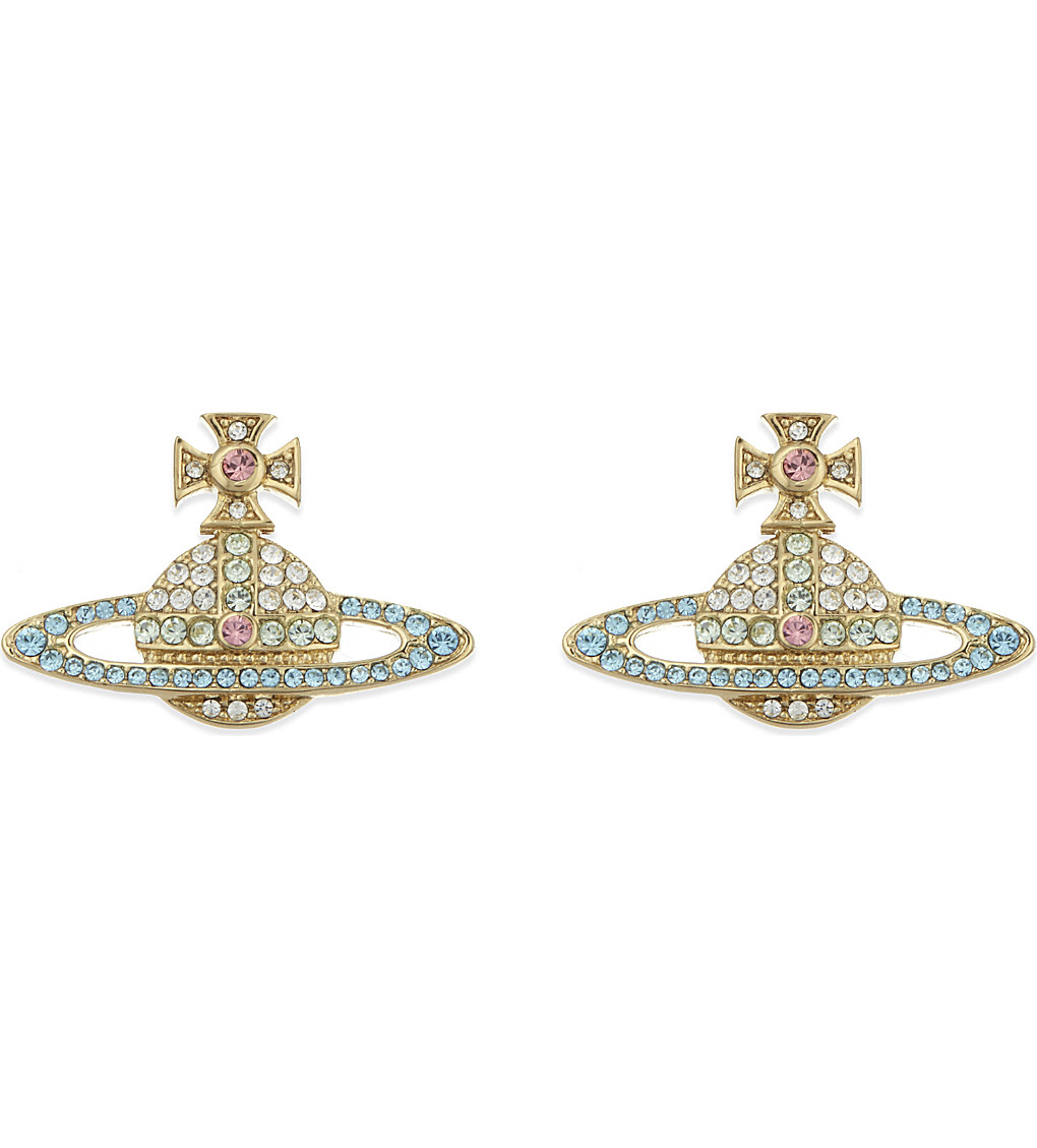 VIVIENNE WESTWOOD JEWELLERY Kika stud earrings £95.00 Click to visit Selfridges