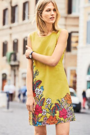 Yellow Floral Linen Dress £36 Click to visit Next