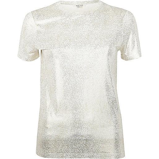 River Island Gold Foil T-Shirt £16 Click to visit ASOS