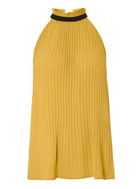 **Vero Moda mustard pleated top Price: £22.00 Click to visit Dorothy Perkins