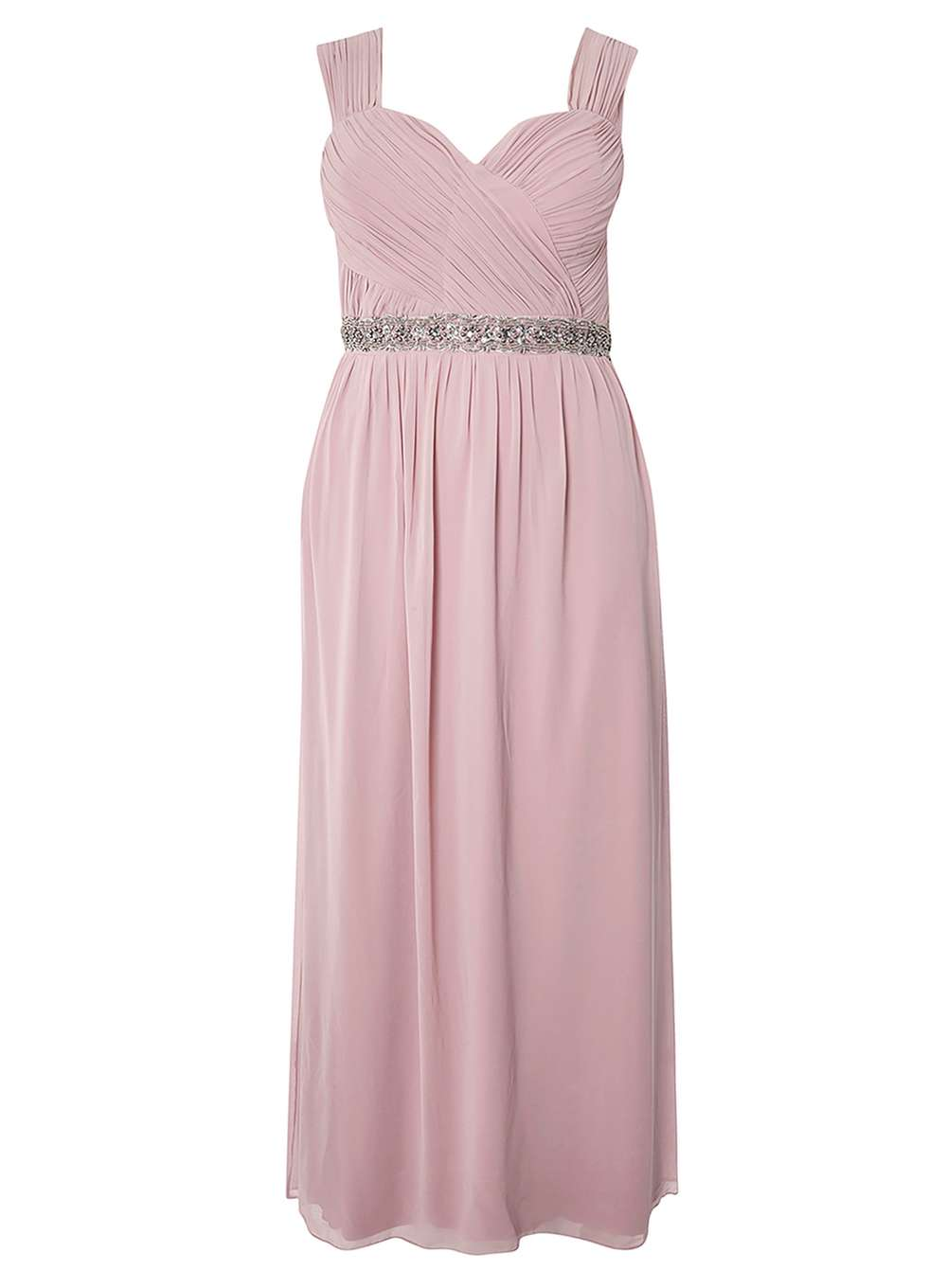 **Showcase Curve Dusky Pink Maxi Dress