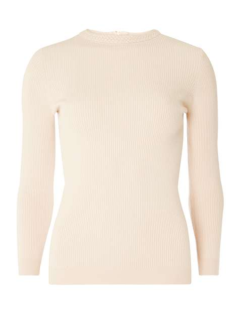 Nude Plait High Neck Jumper Was £24.00 Was £12.00 Now £10.80 Click to visit Dorothy Perkins