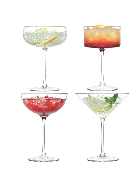 LSA Lulu Champagne/Cocktail Glass Clear Assorted x 4 £40 Click to visit House of Fraser