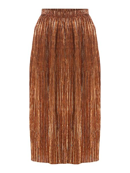 Therapy Afia Bronze Pleated Skirt £12 Click to visit House of Fraser