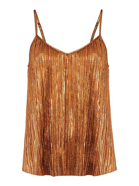 Therapy Afia Bronze Pleated Cami now £12 Click to visit House of Fraser