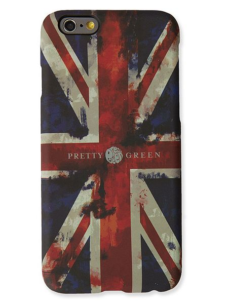 Pretty Green Union jack iphone6 case £25 Click to visit House of Fraser
