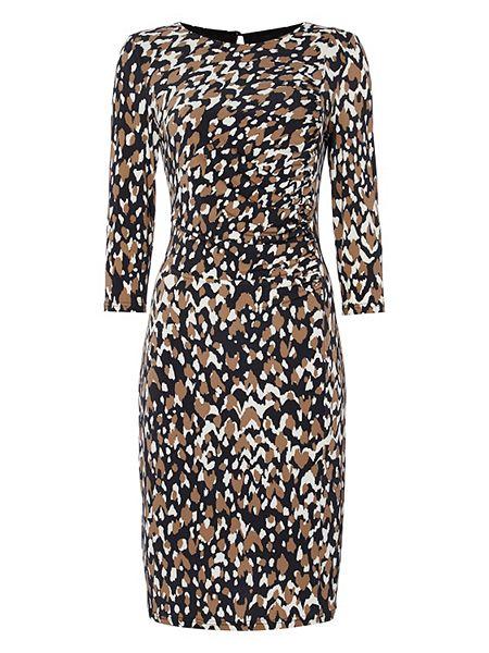 Roman Originals Animal Print Side Drape Dress now  £25 Click to visit House of Fraser