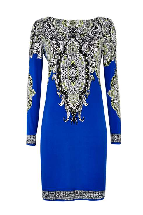 Blue Paisley Print Tunic Dress Price: £45.00 Click to visit Wallis