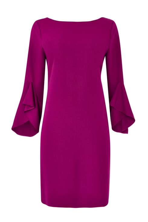 Pink Flute Sleeve Dress Price: £45.00 Click to visit Wallis