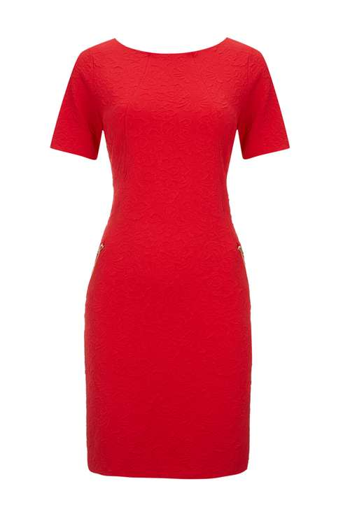 Red Zip Shift Dress Was £40.00 Now £25.00Click to visit Wallis