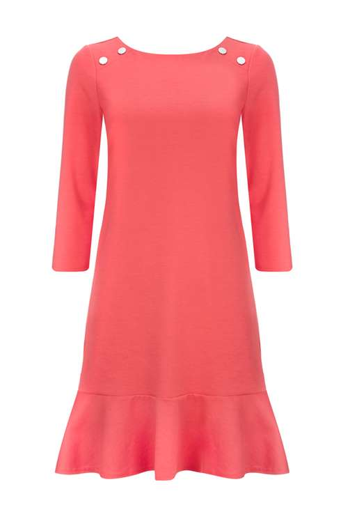 Coral Peplum Shift Dress Price: £35.00 Click to visit Wallis