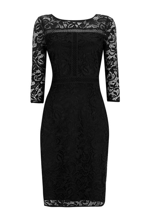 Black Panelled Lace Shift Drss Price: £55.00 Click to visit Wallis