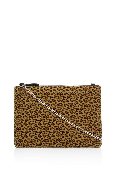 Leopard Print Clutch Bag Was £25.00 Now £10.00 Click to visit Wallis