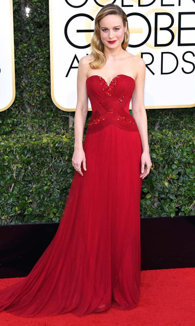 Mandatory Credit: Photo by REX/Shutterstock (7734773fo) Brie Larson 74th Annual Golden Globe Awards, Arrivals, Los Angeles, USA - 08 Jan 2017