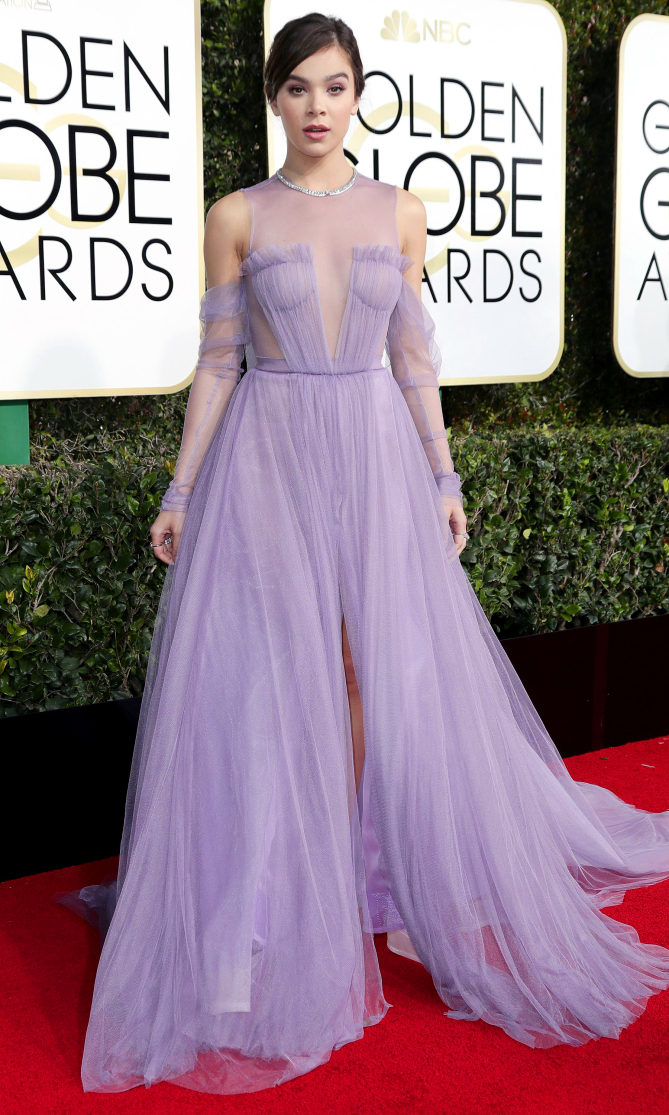 Mandatory Credit: Photo by Jim Smeal/BEI/Shutterstock (7734775hf) Hailee Steinfeld 74th Annual Golden Globe Awards, Arrivals, Los Angeles, USA - 08 Jan 2017