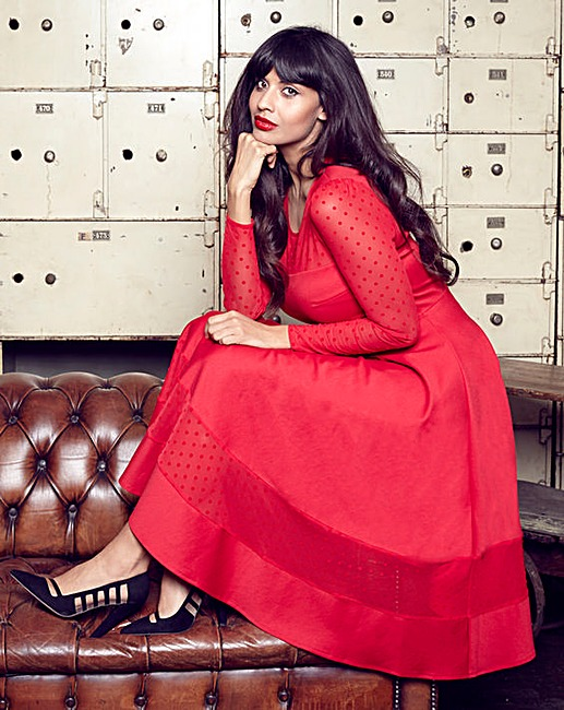 Jameela Jamil Ponte Midi Dress now £24 Click to visit Simply Be