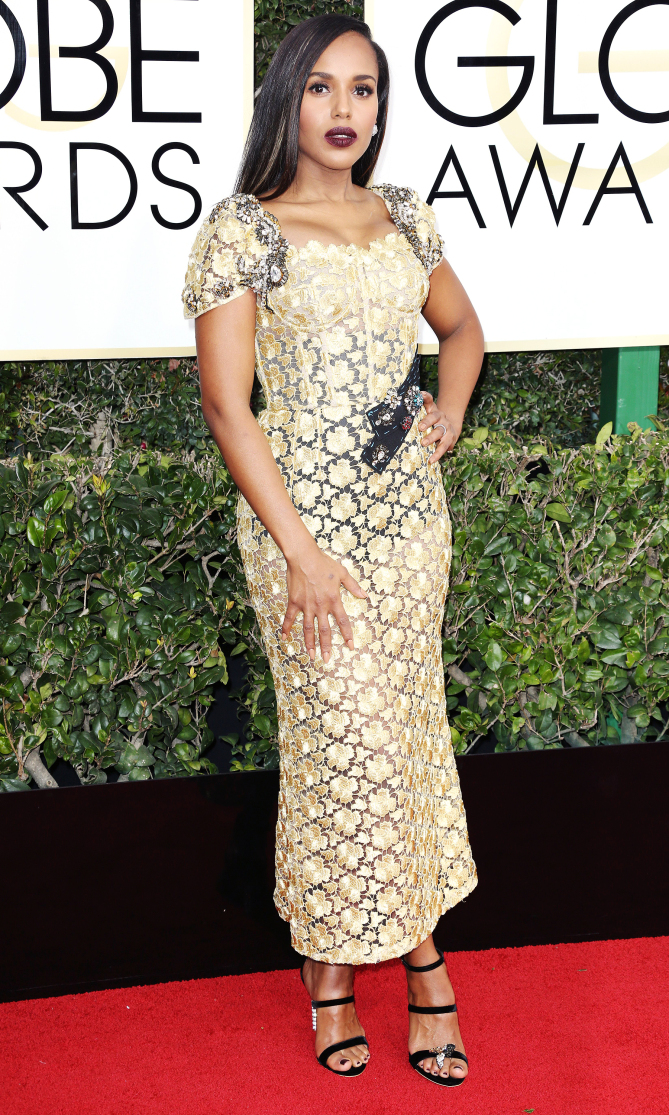 Mandatory Credit: Photo by BEI/Shutterstock (7734784ho) Kerry Washington 74th Annual Golden Globe Awards, Arrivals, Los Angeles, USA - 08 Jan 2017