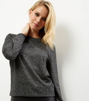 Grey Metallic Long Sleeve Sweater £7.00 Click to visit New Look