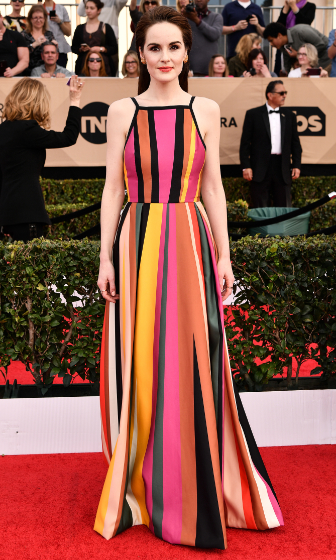 Mandatory Credit: Photo by Rob Latour/REX/Shutterstock (8137126bi) Michelle Dockery The 23rd Annual Screen Actors Guild Awards, Arrivals, Los Angeles, USA - 29 Jan 2017