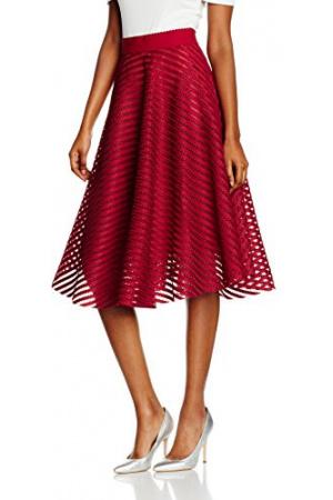 New Look Women's Mesh Stripe Midi Skater Regular Skirt £11 Click to visit Amazon