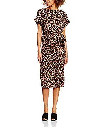 New Look Women's Pleat Leopard Dress from £7.98 Click to visit Amazon