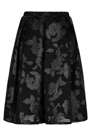 Black Floral Applique Mesh Midi Skirt £10 click to visit Apricot