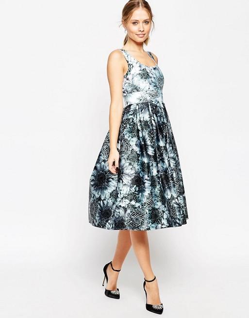 ASOS Premium Mono Floral Midi Prom Dress £34.00  Click to visit ASOS