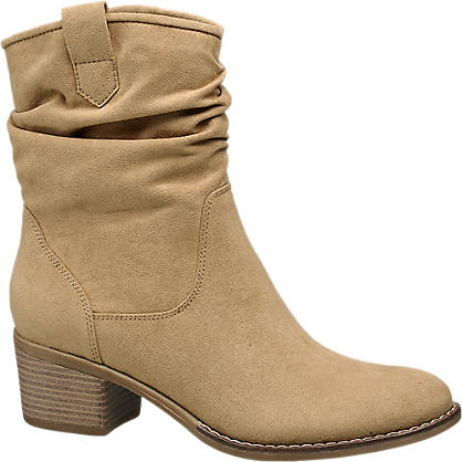 Graceland Ladies Beige Ankle Boots From
